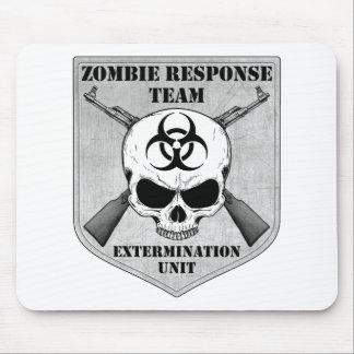 Equipo de la respuesta del zombi tapete de ratones