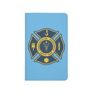 Equipo de la seguridad de la gestión del transport cuadernos grapados
