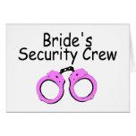 Equipo de la seguridad de las novias (esposas) tarjetón