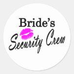 Equipo de la seguridad de las novias etiqueta