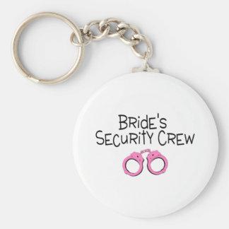 Equipo de la seguridad de las novias llavero redondo tipo pin