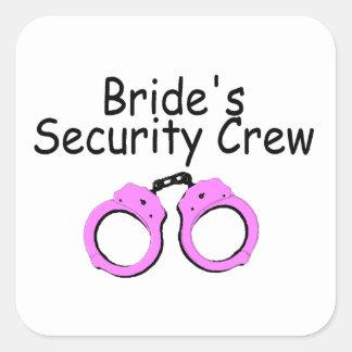 Equipo de la seguridad de las novias (puños pegatina cuadrada