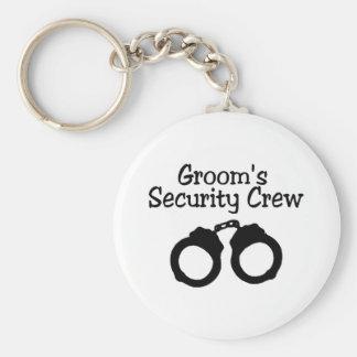 Equipo de la seguridad de los novios llavero personalizado