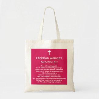 Equipo de la supervivencia de la mujer cristiana bolsa tela barata