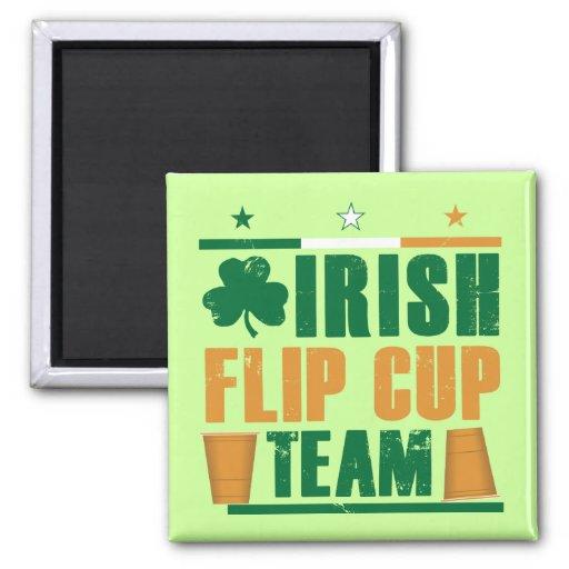 Equipo de la taza del tirón del irlandés imán cuadrado