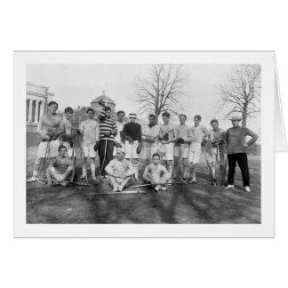 Equipo de LaCrosse del equipo universitario, 1908 Tarjeta De Felicitación