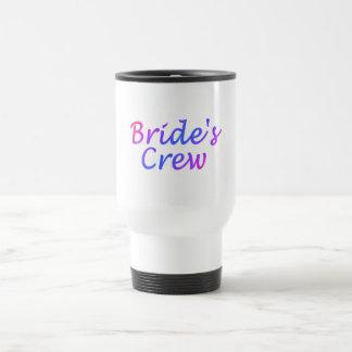 Equipo de las novias (en colores pastel) taza de viaje de acero inoxidable