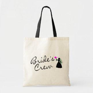 Equipo de las novias negro de la novia bolsas