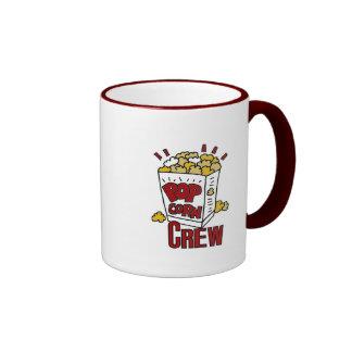 Equipo de las palomitas taza de café