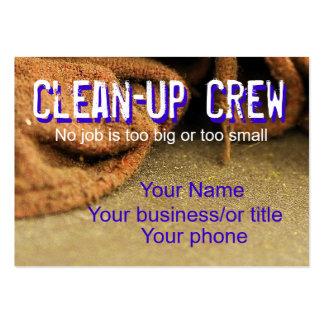 Equipo de limpieza tarjetas personales