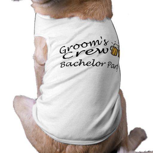 Equipo de los novios (despedida de soltero) camisas de perritos