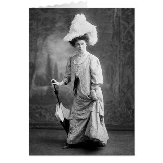 Equipo de lujo, 1900s tempranos tarjeta de felicitación