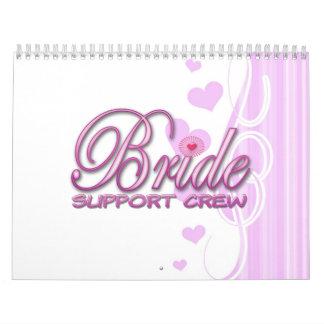 equipo de lujo de la ayuda de la novia que casa la calendario