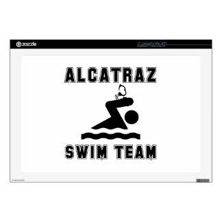 Equipo de natación de Alcatraz Skins Para Portátiles