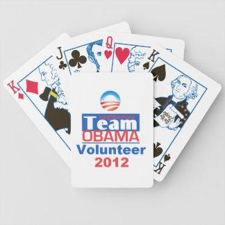 Equipo de Obama Baraja De Cartas
