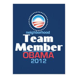 """EQUIPO de Obama Invitación 6.5"""" X 8.75"""""""