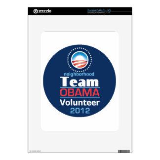 EQUIPO de Obama iPad Calcomanía