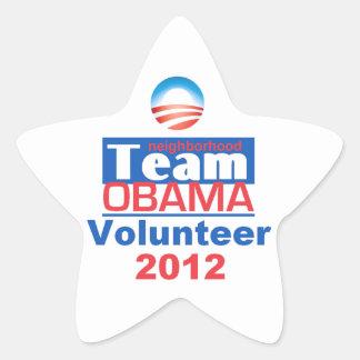 EQUIPO de Obama Pegatina En Forma De Estrella