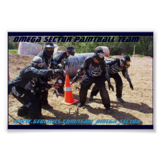 Equipo de Paintball del sector de Omega Poster