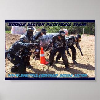 Equipo de Paintball del sector de Omega Póster