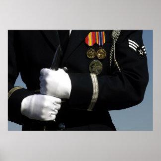 Equipo de perforación del guardia de honor del póster