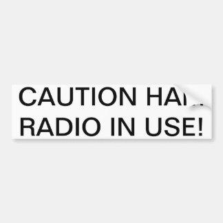 ¡Equipo de radio-aficionado de la PRECAUCIÓN funci Pegatina Para Auto