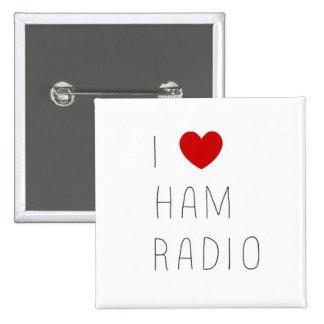 equipo de radio-aficionado pin cuadrado