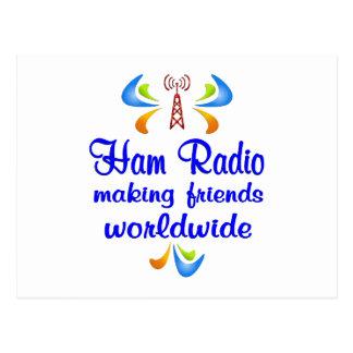 Equipo de radio-aficionado por todo el mundo postal