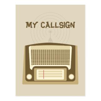 Equipo de radio-aficionado postales