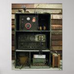Equipo de radio del vintage militar de Comms Impresiones