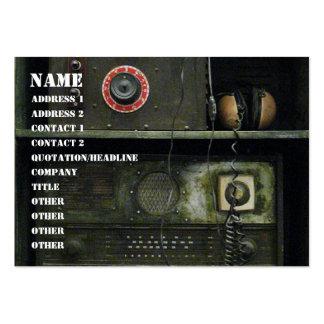Equipo de radio del vintage militar de Comms Tarjetas De Visita Grandes