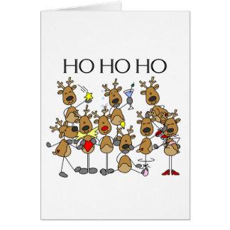 Equipo de reno tarjeta de felicitación