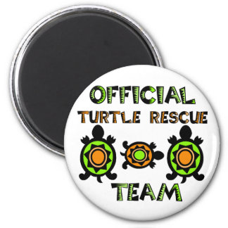 Equipo de rescate oficial 1 de la tortuga imán redondo 5 cm