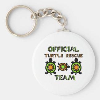 Equipo de rescate oficial 1 de la tortuga llavero