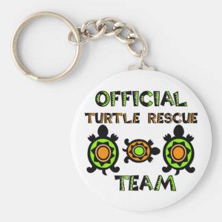 Equipo de rescate oficial 1 de la tortuga llavero personalizado