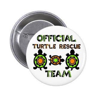 Equipo de rescate oficial 1 de la tortuga pin redondo de 2 pulgadas