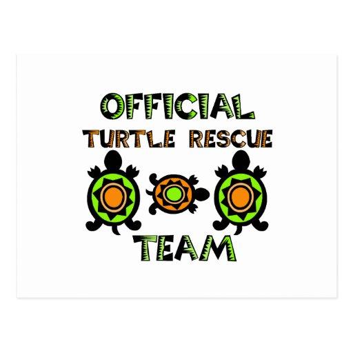 Equipo de rescate oficial 1 de la tortuga postales