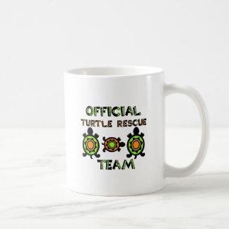 Equipo de rescate oficial 1 de la tortuga tazas de café