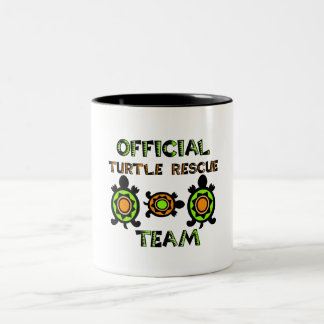 Equipo de rescate oficial 1 de la tortuga taza de café