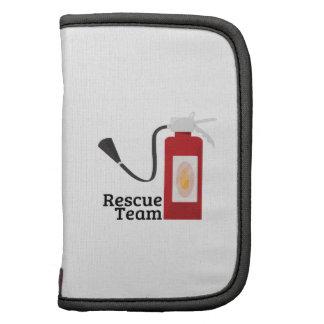 Equipo de rescate planificadores