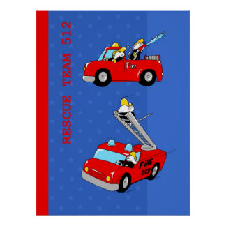 Equipo de rescate póster