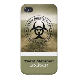 Equipo de seguimiento del zombi iPhone 4 funda