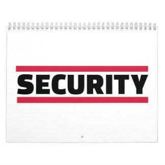 Equipo de seguridad calendarios de pared