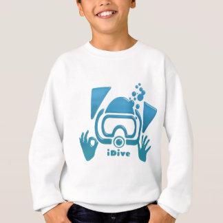 Equipo de submarinismo azul biselado iDive Camisas