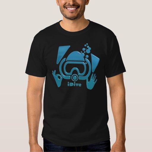 Equipo de submarinismo azul biselado iDive Playeras