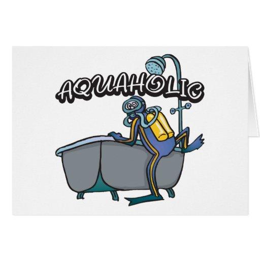 EQUIPO DE SUBMARINISMO de Aquaholic Tarjeta De Felicitación