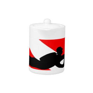Equipo de submarinismo de la bandera de la