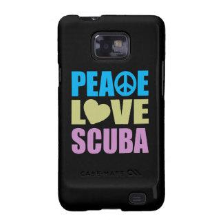 Equipo de submarinismo del amor de la paz samsung galaxy SII funda