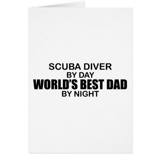 Equipo de submarinismo - el mejor papá del mundo p felicitacion