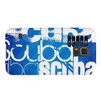 Equipo de submarinismo; Rayas azules reales Carcasa Para Galaxy S5